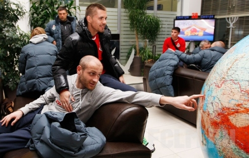 Локомотив прибыл в Испанию (фото)
