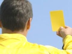Футболист получил желтую карточку после смерти