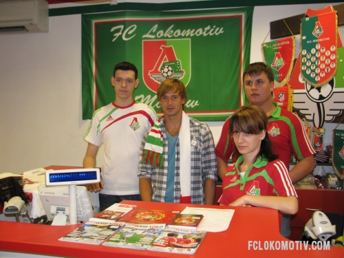 Фоторепортаж автограф-сессии Сычева и Глушакова