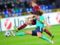 Рубин сыграл вничью с Барселоной