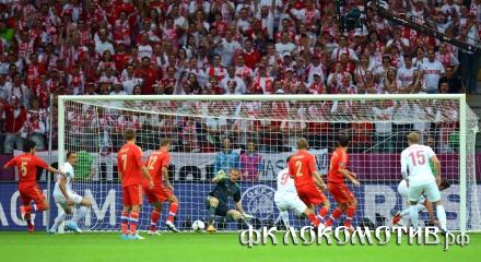 Фоторепортаж с матча Польша - Россия