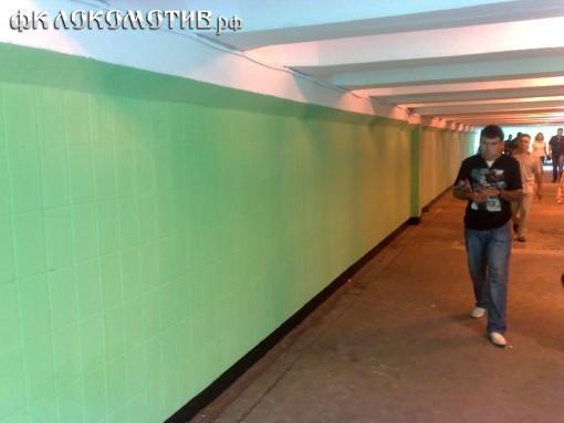 Подземный переход у стадиона «Локомотив» вновь перекрашен