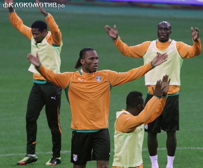 Перед матчем с Россией сборная Кот-д'Ивуара недосчиталась шестерых игроков