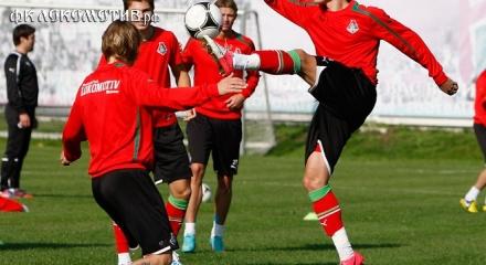 Тренировка «Локомотива» на базе в Баковке в рамках подготовки к выездному матчу с «Тереком»