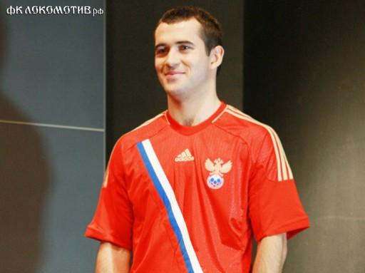 Александр Кержаков в форме сборной России
