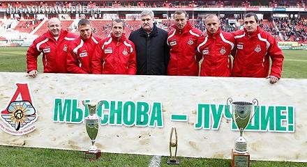 Вадим Морозов поздравил игроков пляжного «Локо»