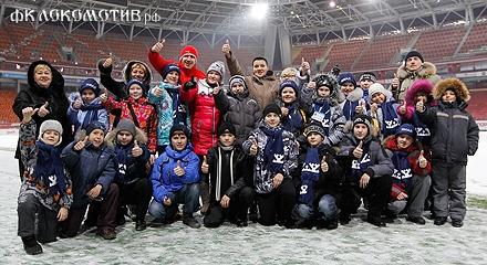Дети с «Кремлевской елки» – на «Локомотиве»