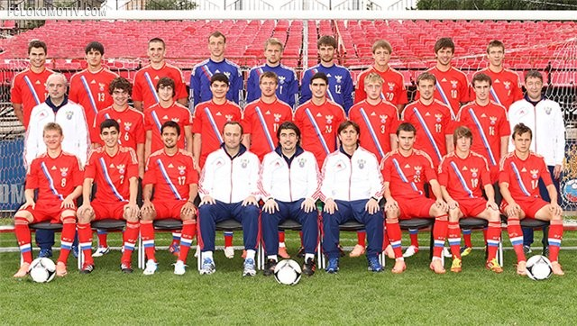 Объявлена заявка молодежной сборной России на матч с Норвегией