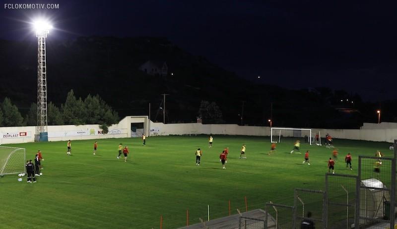 Первая тренировка на Кипре