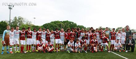 Школьники «Локомотива» сыграли вничью с двумя миланскими клубами