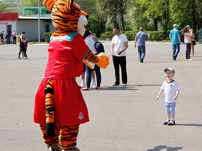Семейный сектор на дерби с ЦСКА