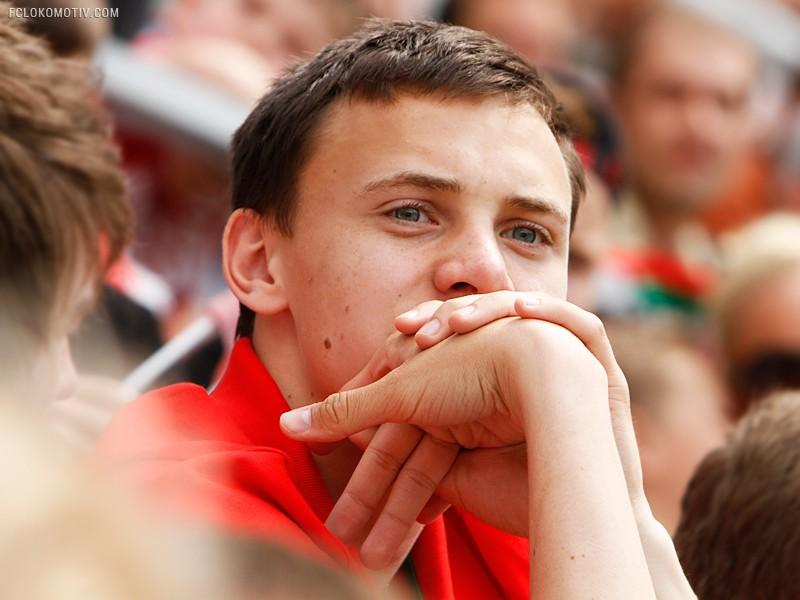 Школьный сектор на матче с ЦСКА