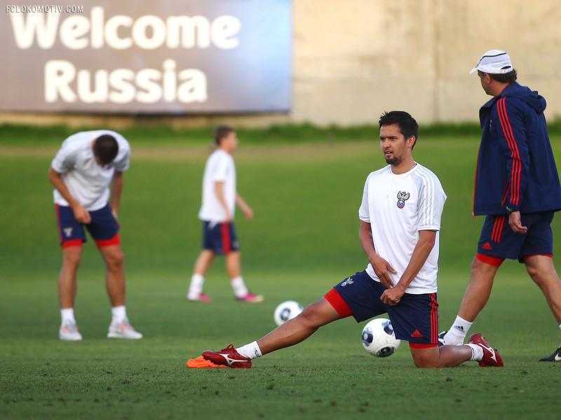 Молодежная сборная России готовится к матчу против Голландии
