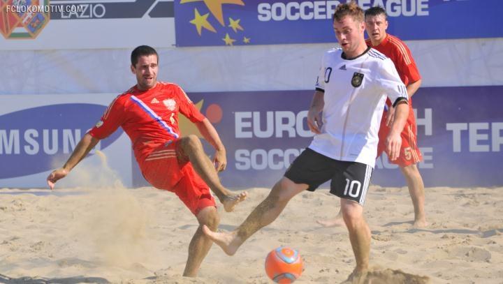 Россияне победили на старте второго этапа Евролиги по пляжному футболу