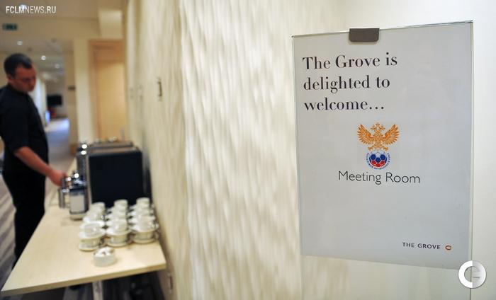 Сборная России в отеле The Grove