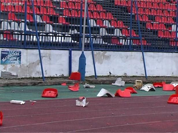 Ущерб стадионам в 6-м туре составил 3 750 рублей