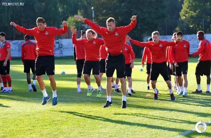 Локомотив Москва: после победы 5:0, тренировка с радостью