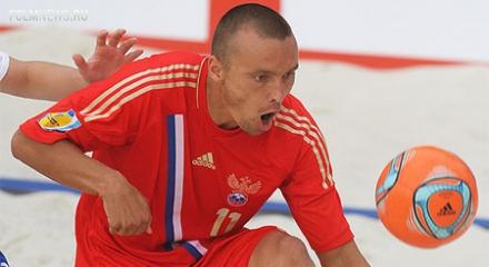 Пляжный футбол. Россия победила Испанию.