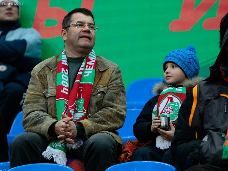 Семейный сектор на матче с «Томью»