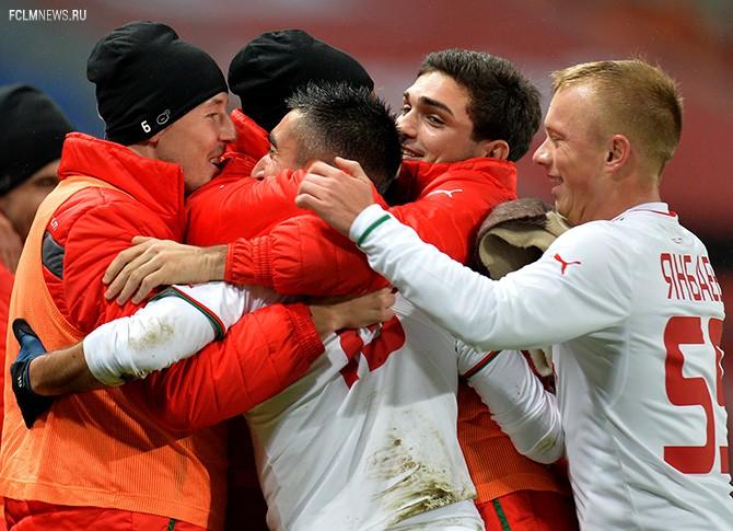 В этом сезоне игроки «Локомотива» радуются чаще, чем обычно