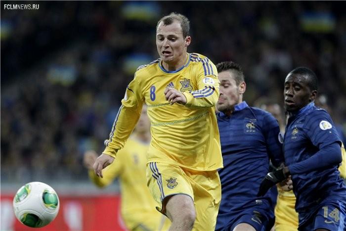 Сборная Украины в Киеве обыграла французов в первом стыковом матче