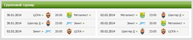 Федеральный канал «Россия 2» покажет матчи Объединенного Суперкубка