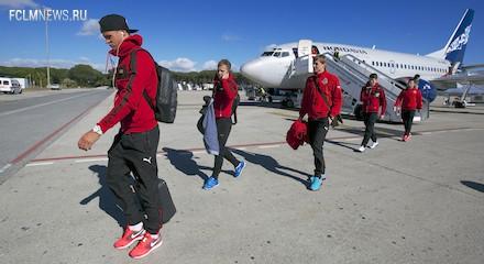 «Локомотив» прилетел в Испанию