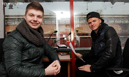 Дмитрий Тарасов – диктор на матче с «Уралом»