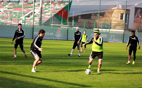 «Терек» провел тренировку перед игрой с «Локомотивом»