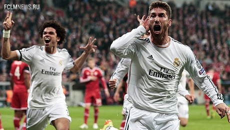 """""""Реал"""" разгромил """"Баварию"""" и стал первым финалистом Лиги Чемпионов 13/14"""