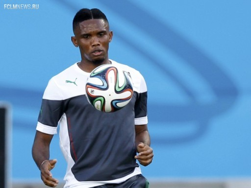 Самюэль Это'О на тренировке сборной Камеруна Источник: Reuters