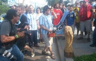 Полиция Куябы не даст российским болельщикам пронести петарды на матч с Южной Кореей