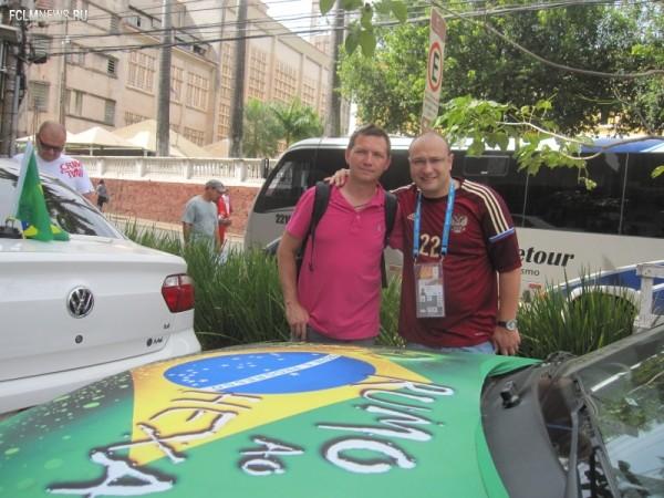 Георгий Черданцев с коллегой Константином Геничем. Фото: «Советский спорт»