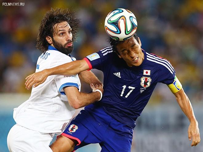 Япония и Греция сыграли вничью на чемпионате мира — 2014 (Видео)