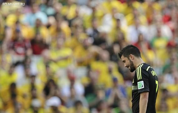 Вилья уходит с поля и прощается со сборной Источник: Reuters
