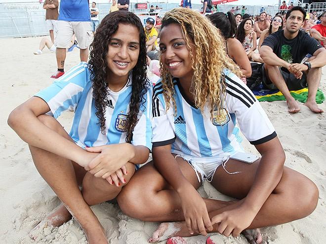 Болельщицы сборной Аргентины