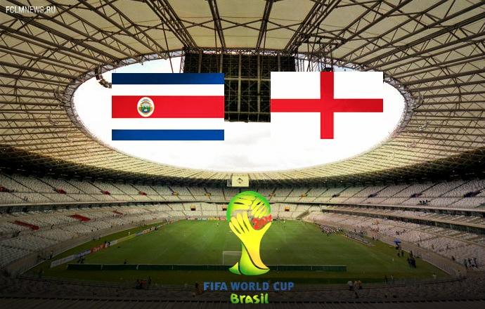 Коста-Рика сыграла вничью с Англией и вышла в плей-офф с первого места