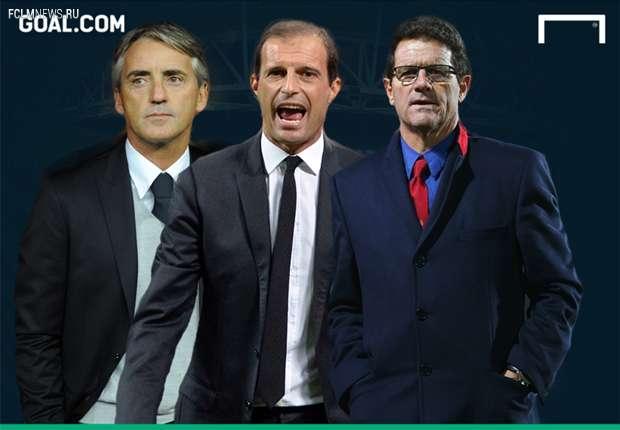 Капелло, Аллегри и Манчини претендендуют на пост главного тренера «Ювентус»
