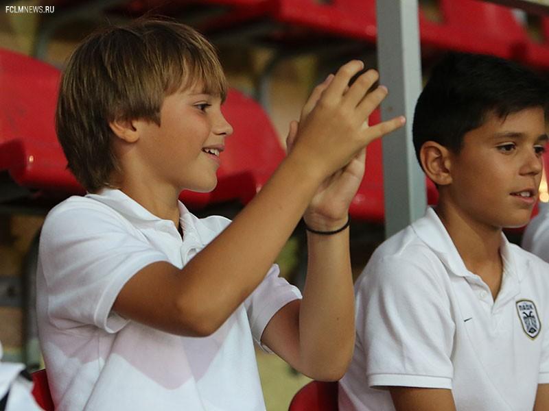 Школьный сектор на матче с «Краснодаром»