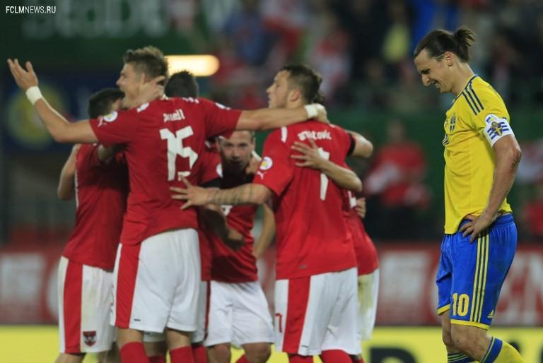 Австрия – Швеция – 1:1 (1:1)