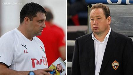Игорь Черевченко (слева). Фото: © http://www.fclm.ru/ и Леонид Слуцкий.