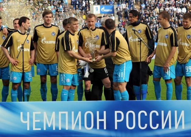Награждение футболистов «Зенита». Фото ИТАР-ТАСС.