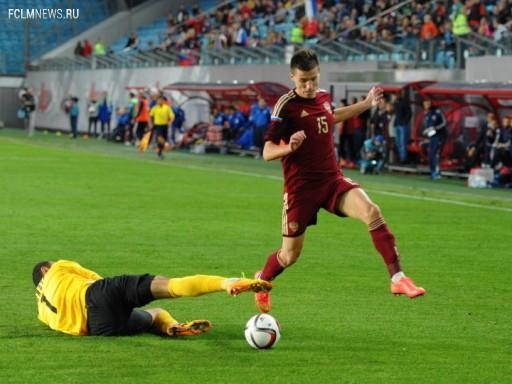 Дмитрий Полоз уже сыграл в майке сборной России Источник: Sovsport.ru