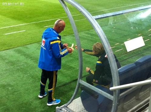 В тренировке шведов не принял участия Златан Ибрахимович