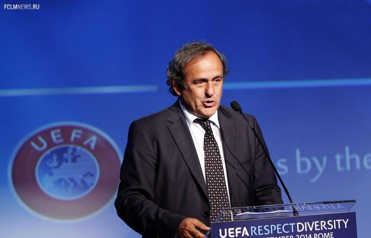 Президент УЕФА Мишель Платини© AP/Riccardo De Luca