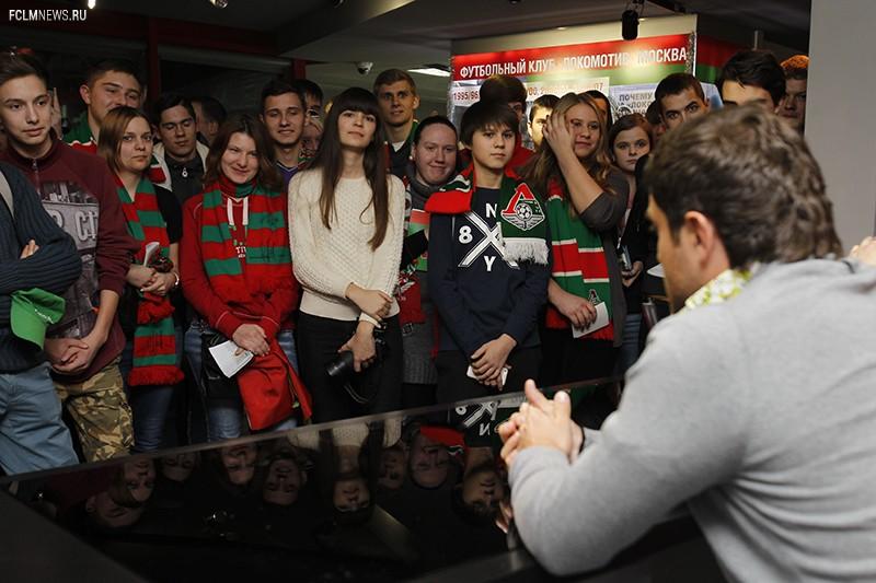 Алан Касаев и Дмитрий Лоськов встретились с болельщиками в музее