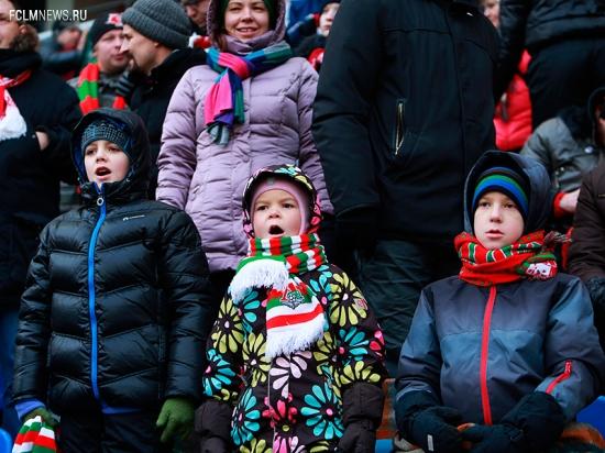Школьный сектор на матче со «Спартаком»