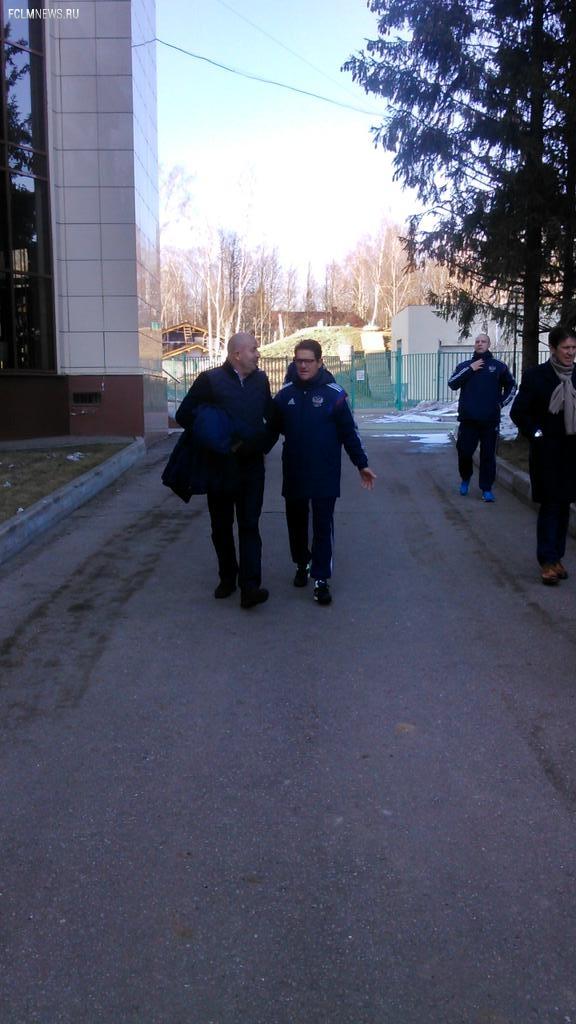 Капелло проводит тренировку сборной России вместе с Черчесовым