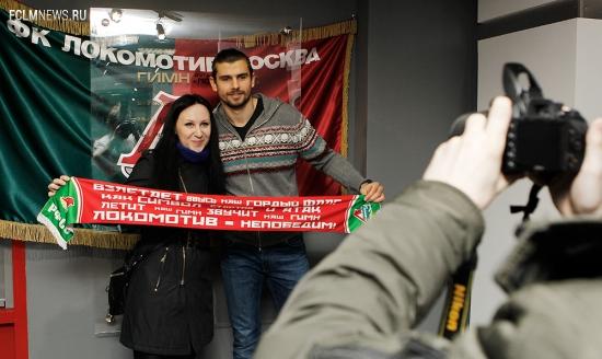 Неманья Пейчинович в музее «Локомотива»