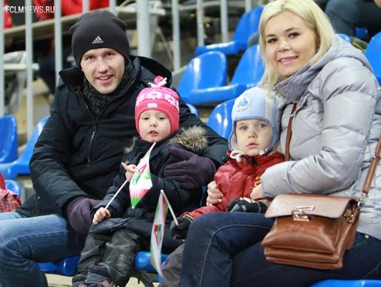 Семейный сектор на матче с «Арсеналом»